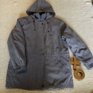 Light Gray London Fog Coat w/detachable hoodie XSP
